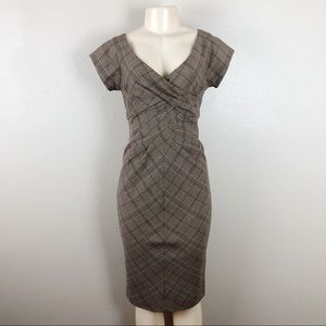 MICHAEL KORS PLAID CAREER DRESS